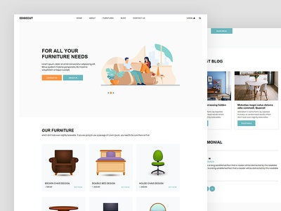 Edgecut business furniture design ecommerce industry furniture css template bootstrap html5 responsive