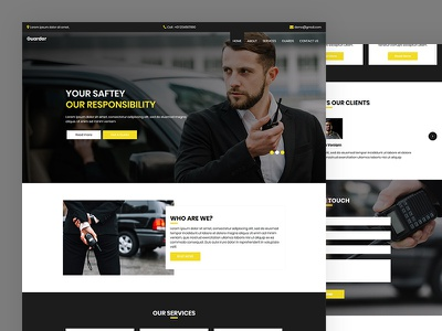 Guarder bodyguard agency guard safety security css template bootstrap html5 responsive