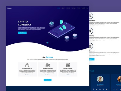 Finexo ico digital currency blockchain bitcoin currency crypto css template bootstrap html5 responsive