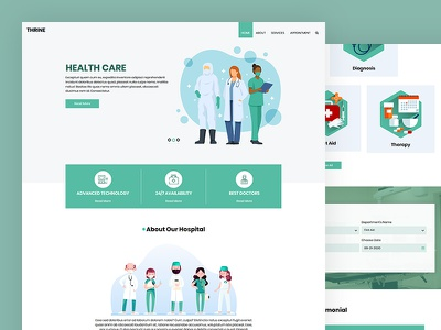 Thrine medicine clinic dental medical healthcare css template bootstrap html5 responsive