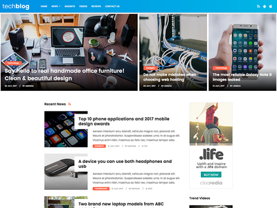 Tech Blog by Free Website Templates - Dribbble