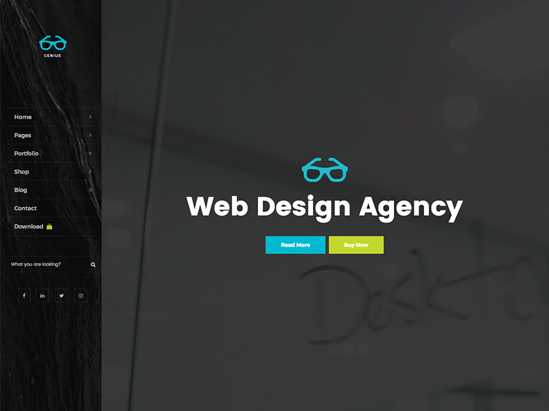 Genius By Free Website Templates On Dribbble