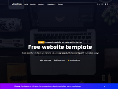 Micrology creative business website theme template free template free website template free css3 css html5 html