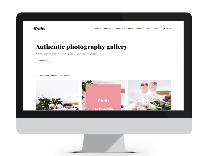 Linda by Free Website Templates - Dribbble