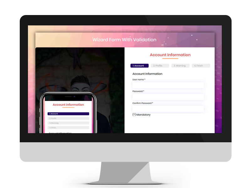Wizard Form With Validation by Free Website Templates on