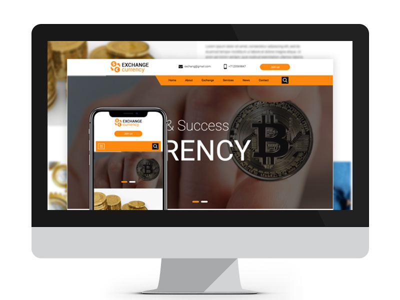 Exchange Currency By Free Website Templates On Dribbble