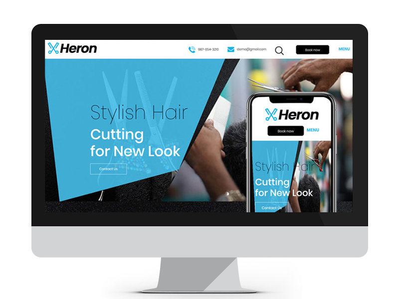 Heron by Free Website Templates on Dribbble