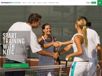 Tennis Club new website design website web ui design ux design webdesign