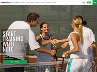 Tennis Club new website design