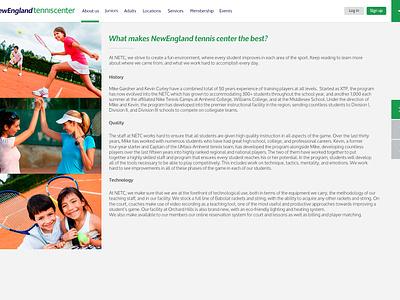 Tennis Club new website design navigation menu website web ui design ux design webdesign