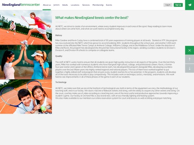 Tennis Club new website design navigation menu website web ui design ux design webdesign
