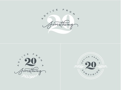 A20S Logos script fern ligature something 20 handlettering lettering logotype logo identity branding