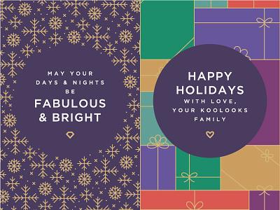 Koolooks Christmas diamond iconography icons fashion gifts presents snowflakes christmas identity branding