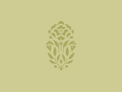 KFH Floral Mark illustration mark peony olive branch floral flower logo identity branding