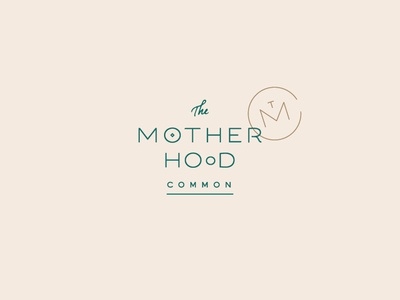 The Motherhood Common Logo doula birth tmc pregnancy pregnant logotype badge monogram baby typography lettering mama mother motherhood mark identity logo branding