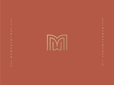 The MMW Monogram ✨ mmw gatsby art deco book gold monogram mark logo identity branding