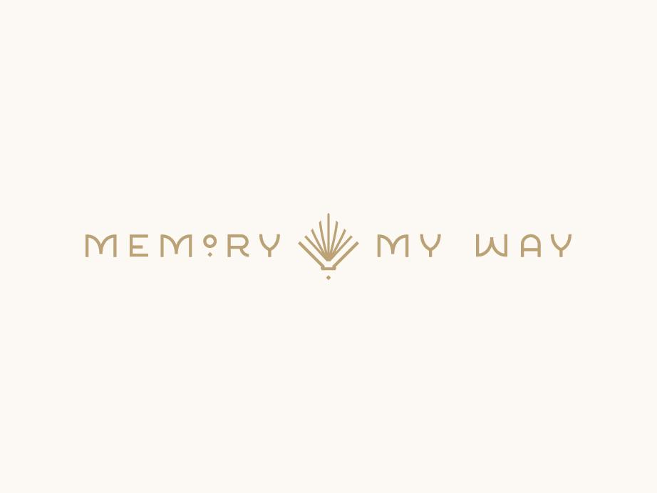 Memory My Way Logo seamless pattern pattern logotype gatsby art deco book mark logo identity branding