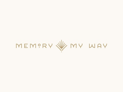 Memory My Way Logo seamless pattern pattern logotype gatsby art deco book mark logo identity branding