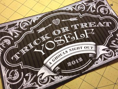 Trick or Treat Yoself bachelorette halloween sp00ky wedding trix treatz
