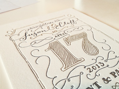 It's a Date lettering swashery save the date letterpress stationery hand-drawn type