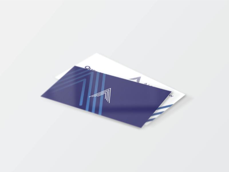 Allen Kew Business Cards mockup card purple kew allen business card