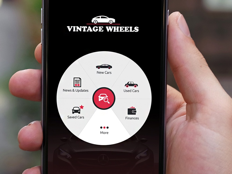 vintage wheels concept ios app by kreative mindz dribbble. Black Bedroom Furniture Sets. Home Design Ideas