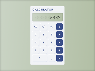 Neumorphism Calculator UI Design figma calculator trends 2020 design ui ux neumorphism