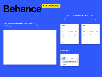 Figma Behance template example ui behance template figmadesign figma