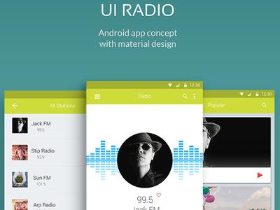 UI Radio Android Aplication