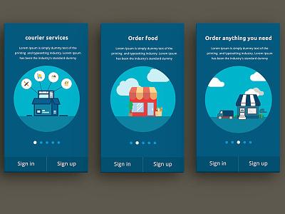 App Courier courier design illustration mobile ux ui android app