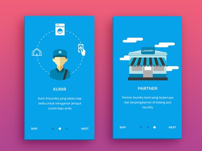 App Laundry mobile illustration design inspiration interface laundry app android ux ui