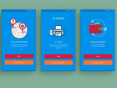 App Print print appdesign mobile illustration interface ux ui android