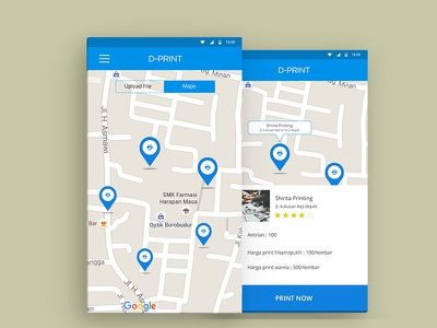 App Print application design app interface mobile design maps android ux ui