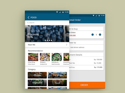 App Courier courier appdesign mobile layout interface ux ui android