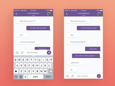 Chat App Concept social mobile messaging app ios chat