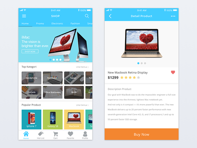 E-commerce Shop App mobile clean iphone shop ecommerce ux ui app ios