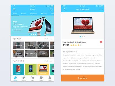 E-commerce Shop App mobile clean iphone shop ecommerce ux ui app ios