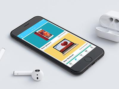 E-commerce Shop App user interface hot list mobile shop ecommerce ux ui iphone ios clean app