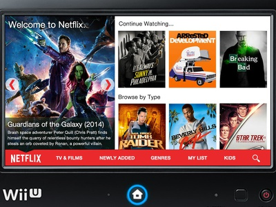 Wii U Netflix App nintendo wii u netflix app user interface design streaming