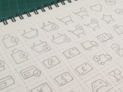 Ecommerce Icon Set interface shopping cart delivery ui pencil sketch icons ecommerce