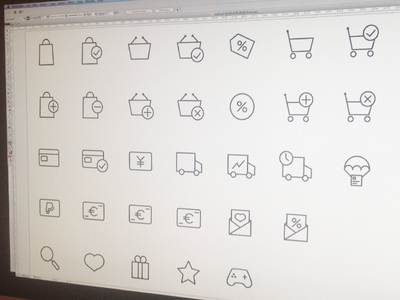 Ecommerce Icons sketch illustrator ui cart set vector icons ecommerce