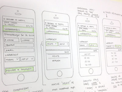 Mobile Web Flow ixd interaction design ux drawing handdrawn flow pen sketch