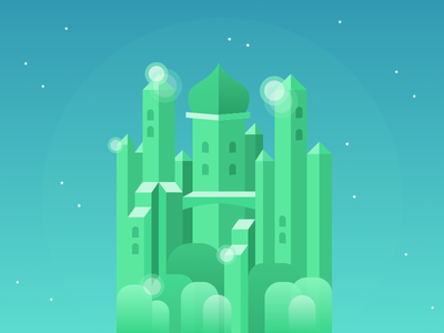 Monument Oz monument valley emerald city emerald film wizard oz illustration