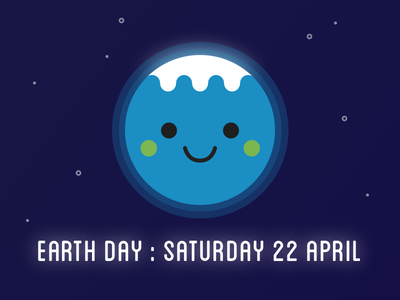 Earth Day 2017 earth day cute kawaii illustration environment planet earth