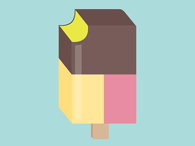 90s Ice-Cream 3d illustration summer ice lolly ice-cream
