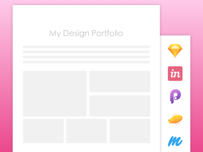 Design Portfolio blog thumbnail prototyping presentation ux ui design portfolio