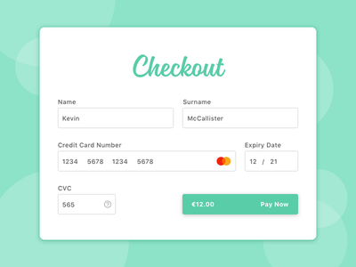Credit Card Checkout Form e-commerce daily ui ui online sales check out checkout ecommerce creditcard credit card form