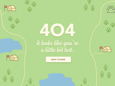 404 Page icons icon illustration ui camp lost forest 008 map camping daily ui 404