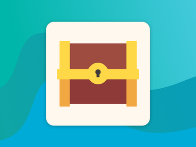App Icon sea vector branding ui trove treasure logo app icon