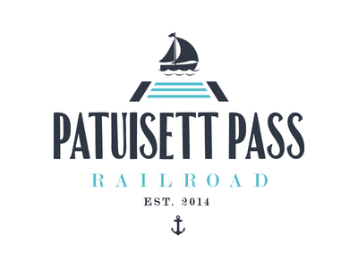 Logo Concept for Patuisset Pass Railroad logo typography train railroad boat ocean brand cape cod